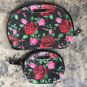 Betsy Johnson Rose Cosmetic Bag Set!!
